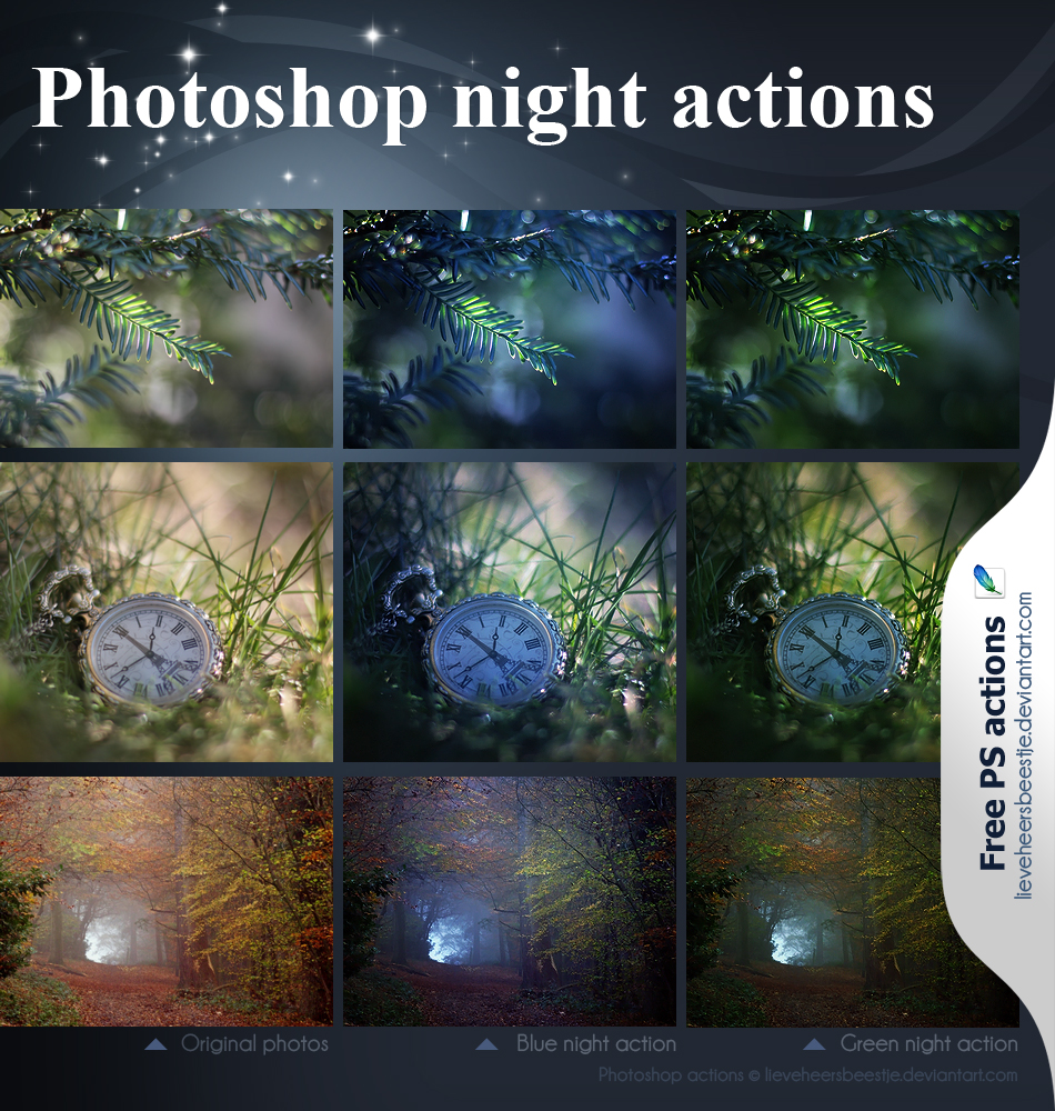 Photoshop night actions - RENEWED