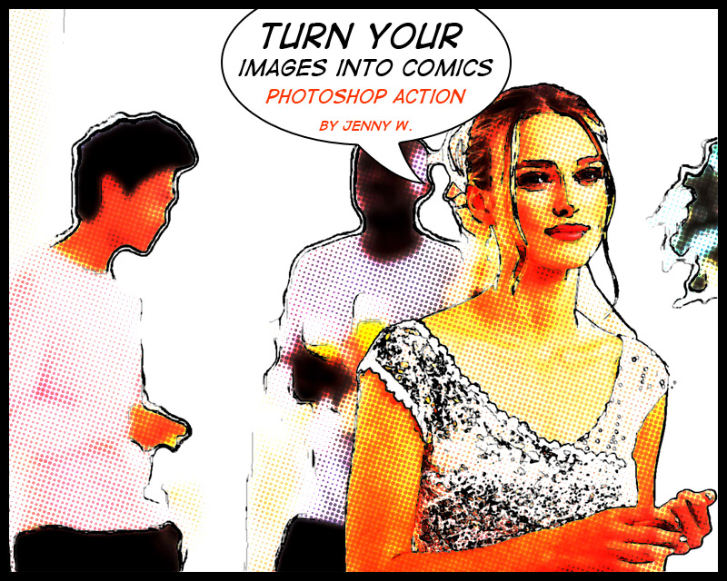 Comics Photoshop Action by mutato Nomine