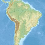South America laea relief location map