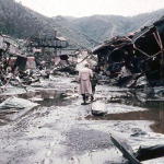 Destroyed steel factory near Corral - Photo from the autumn of 1960