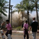The tsunami strikes Ao Nang, Thailand.