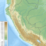 Peru physical map